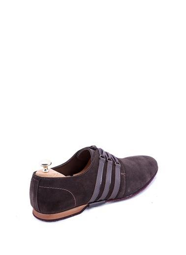 Wessi Erkek Süet Kenarları Şeritli Klasik Ayakkabı Kahve